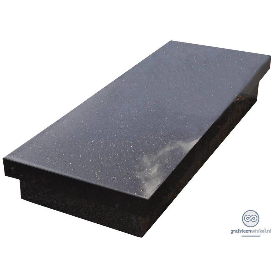 Zwarte zerk grafsteen-2