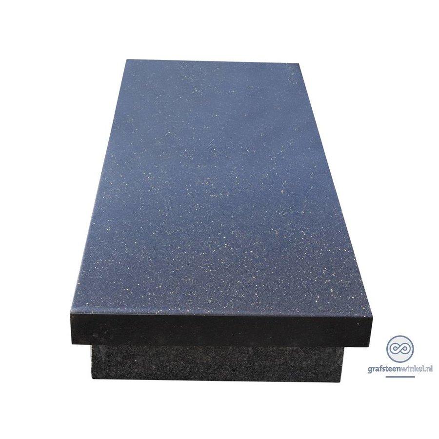 Zwarte zerk grafsteen-1