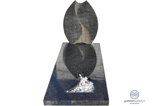 Grijze tulpvormige grafsteen