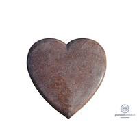 Liggende rode grafsteen hart