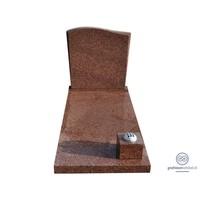 thumb-Bruine grafsteen met golvende bovenzijde-2