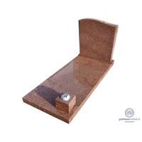 thumb-Bruine grafsteen met golvende bovenzijde-1