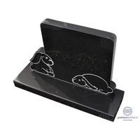 thumb-Zwarte grafsteen met twee konijntjes-1