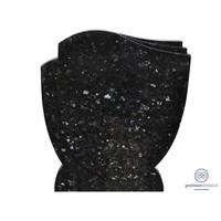 thumb-Zwarte grafsteen met golvende zijden-2