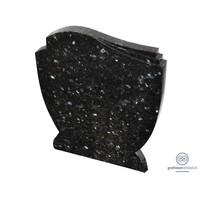 thumb-Zwarte grafsteen met golvende zijden-1