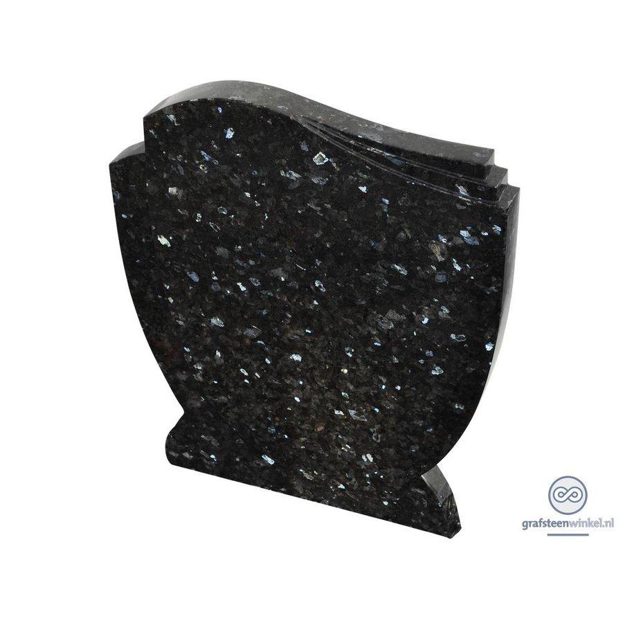 Zwarte grafsteen met golvende zijden-1