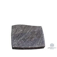 thumb-Grijze golvende liggende grafsteen-2