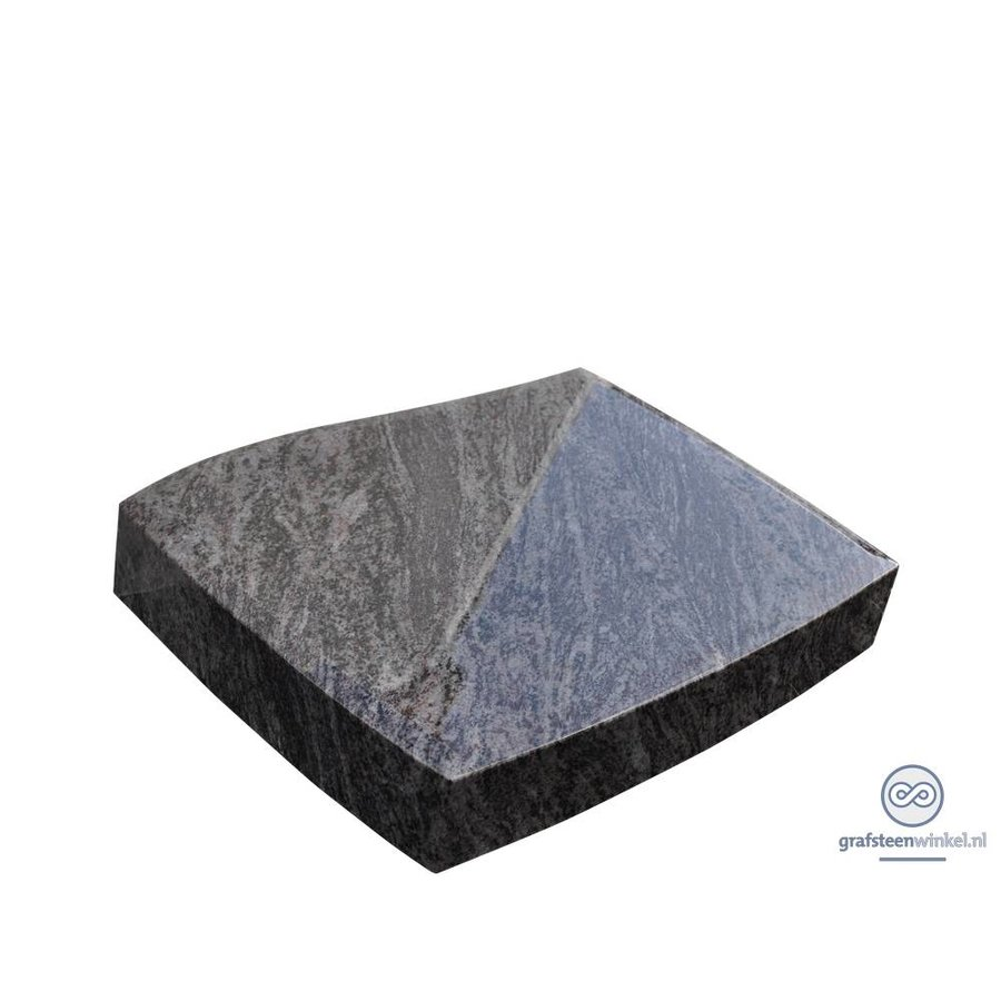 Grijze golvende liggende grafsteen-1