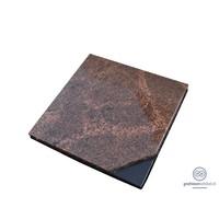 thumb-Bruinachtige grafsteen met zwart detail-1