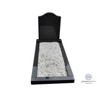 thumb-Zwarte hals vormige grafsteen met omranding-2