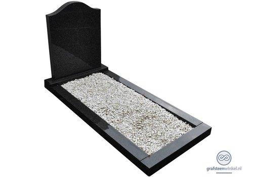 Zwarte hals vormige grafsteen