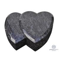 thumb-Twee grijze hartvormige grafsteen-1