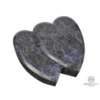 thumb-Twee grijze hartvormige grafsteen-2