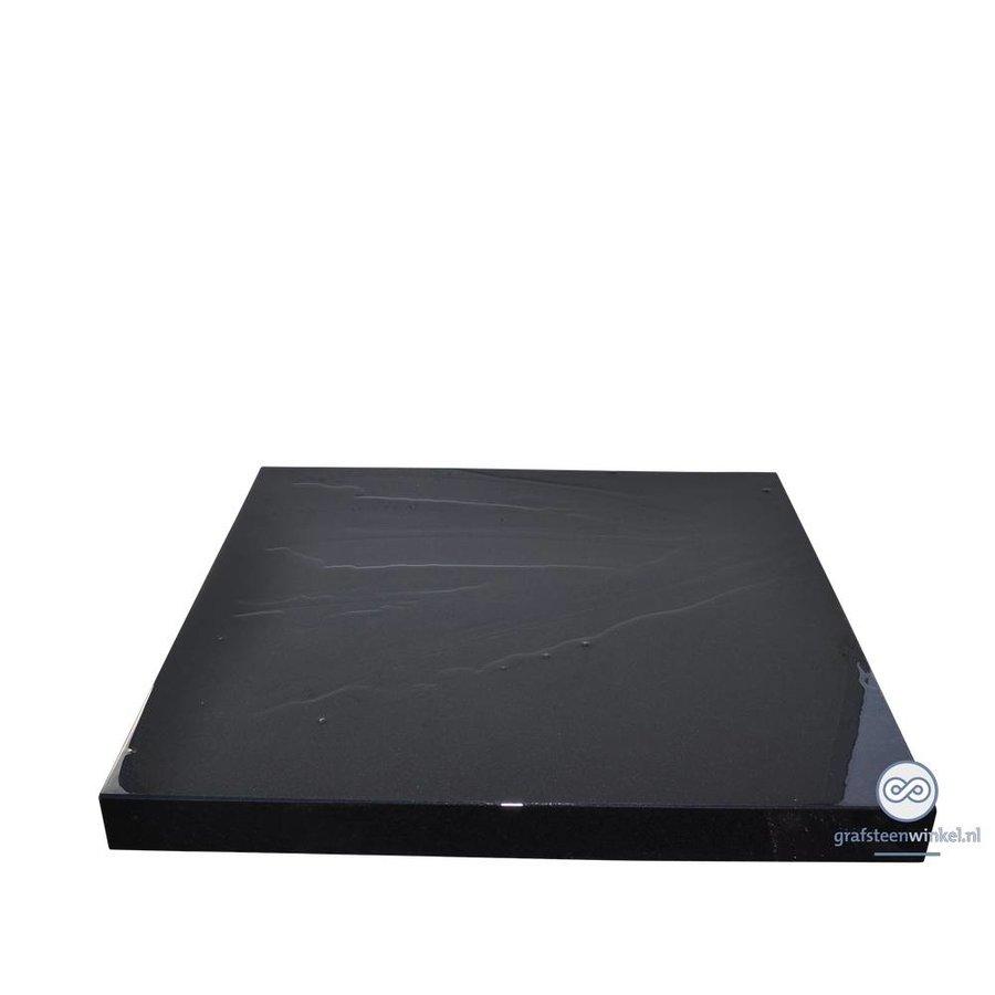 Zwarte grafsteen algemeen graf-2