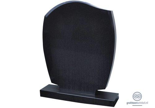 Zwarte golvende grafsteen