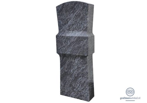 Grijze grafsteen met verdikking