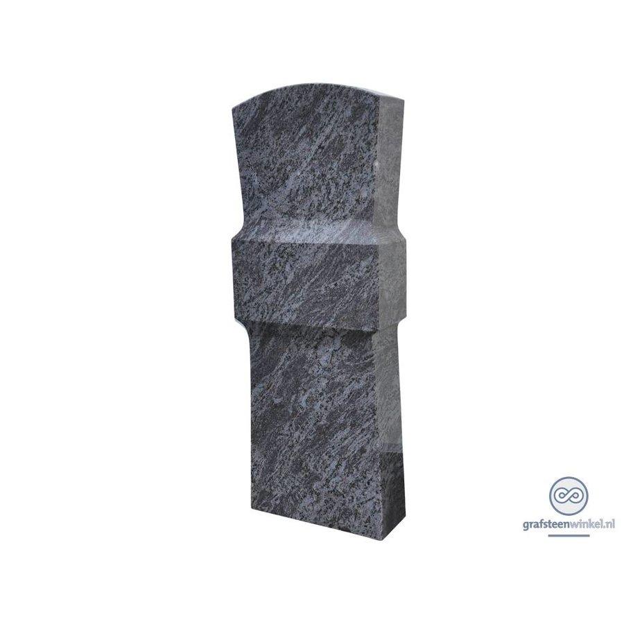 Grijze grafsteen met verdikking in het midden-1
