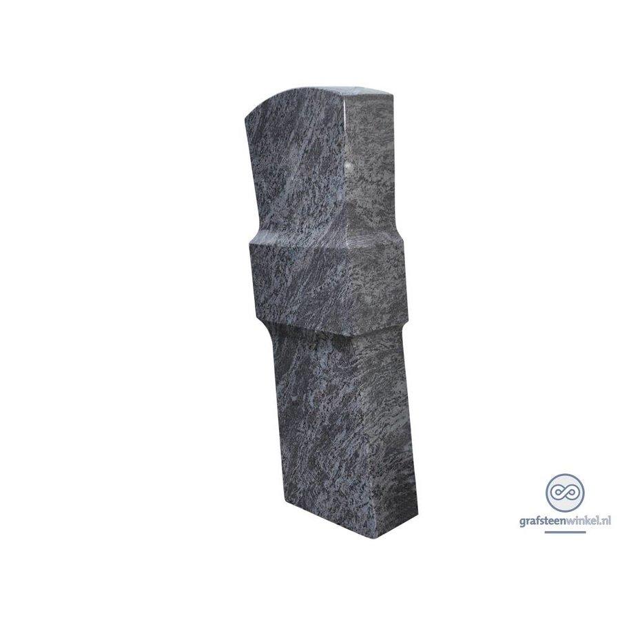 Grijze grafsteen met verdikking in het midden-2