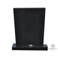 thumb-Zwarte strakke grafsteen-2