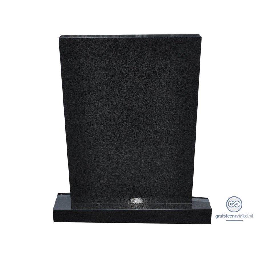 Zwarte strakke grafsteen-2
