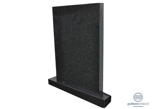 Zwarte strakke grafsteen