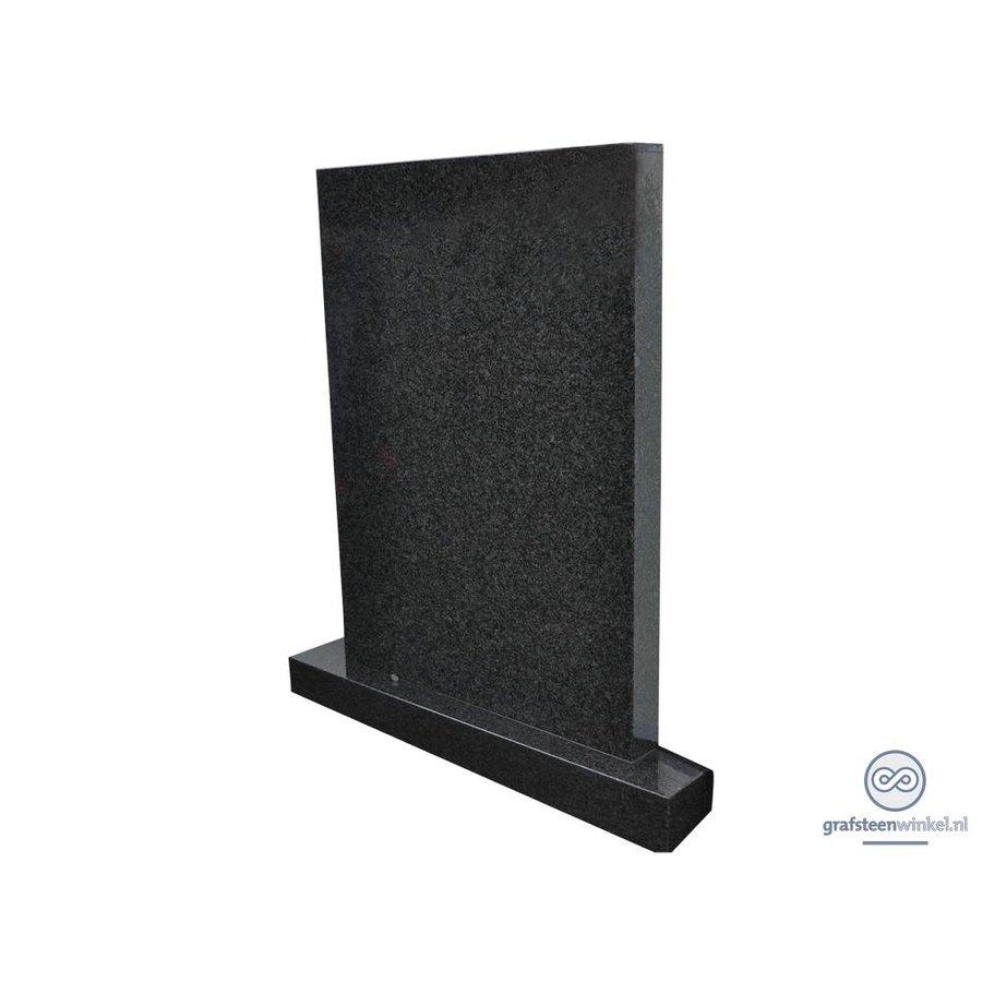 Zwarte strakke grafsteen-1