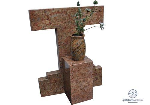 Trapezium model grafsteen