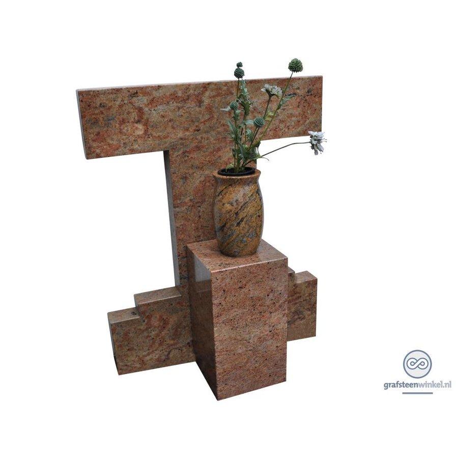Trapezium model grafsteen-1