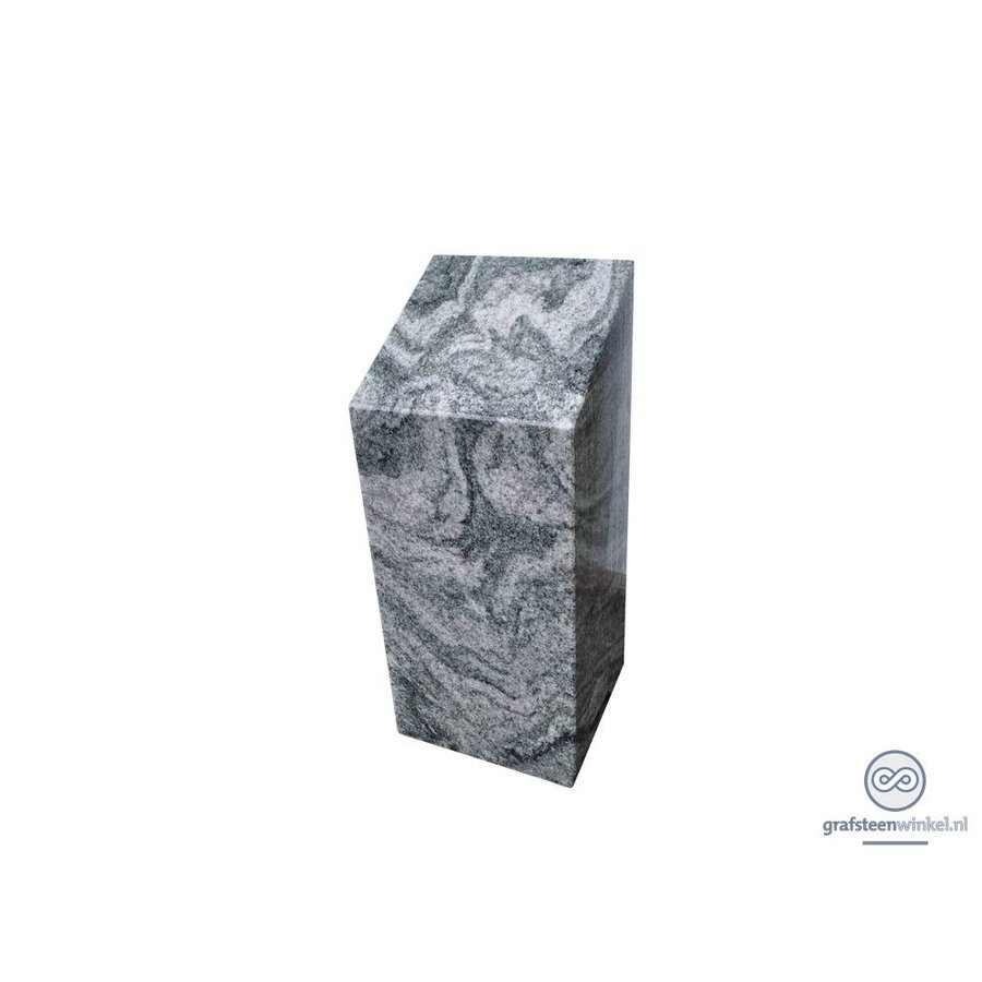 Granieten zuil grafsteen-1
