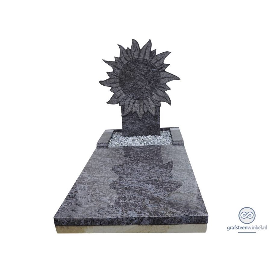 Grafmonument met zon-2