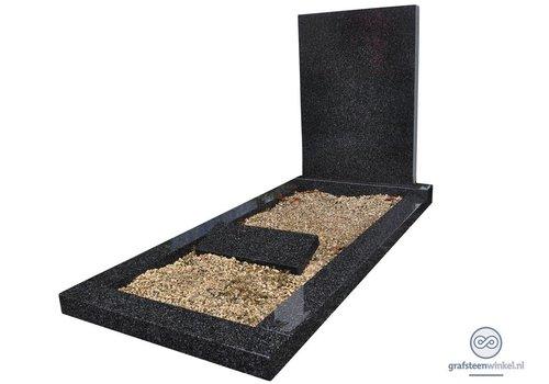 Eenvoudige grafsteen met omranding