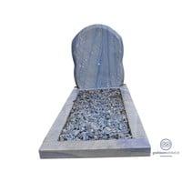thumb-Bijzondere grafsteen, Edelsteen Azul Macauba-1