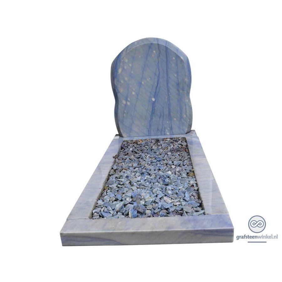 Bijzondere grafsteen, Edelsteen Azul Macauba-1