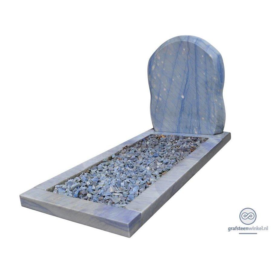 Bijzondere grafsteen, Edelsteen Azul Macauba-2