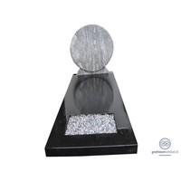 thumb-Grafsteen met combinatie van zwart en wit-2