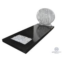 thumb-Grafsteen met combinatie van zwart en wit-1