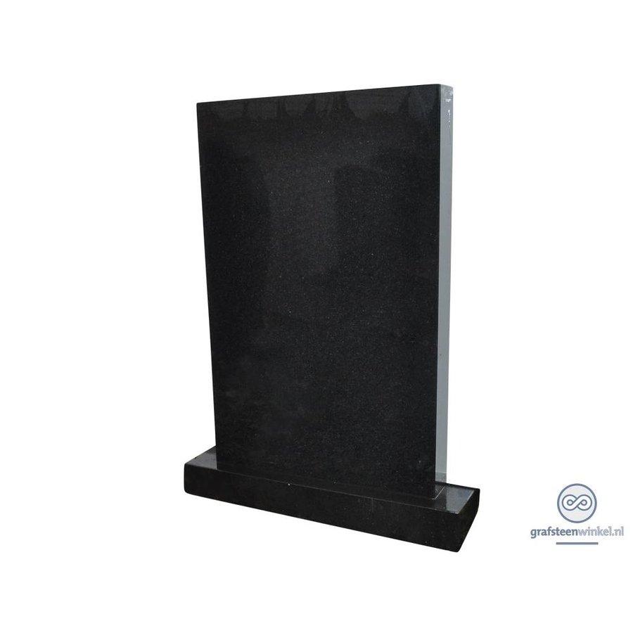Zwarte grafsteen rechthoekig-1