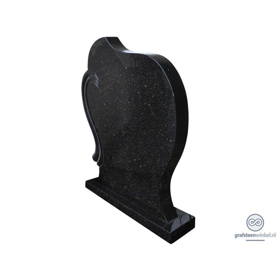 Zwarte grafsteen met koperkleurige spikkel-2