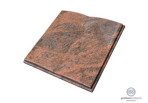 Liggende grafsteen, open boek