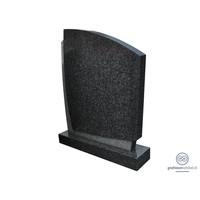 Strakke, tweekleurige grafsteen, grijs