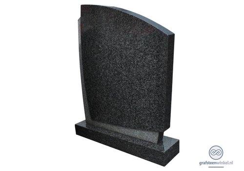 Strakke, tweekleurige grafsteen