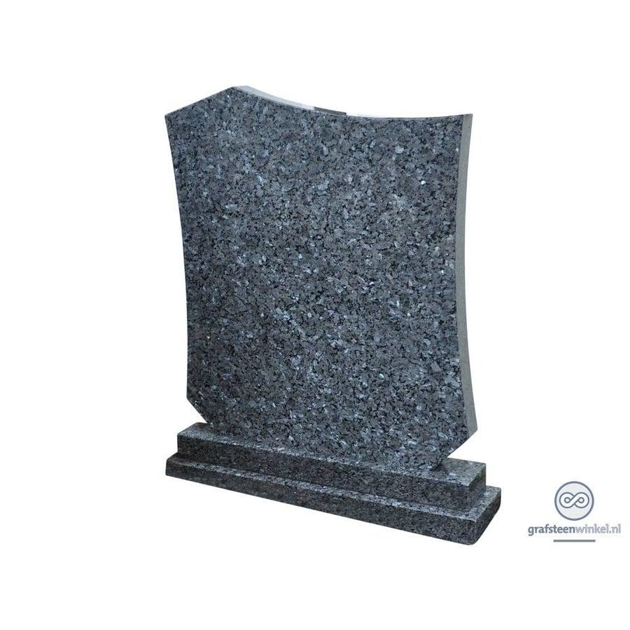 Lichtgrijze grafsteen, Labrador Blue