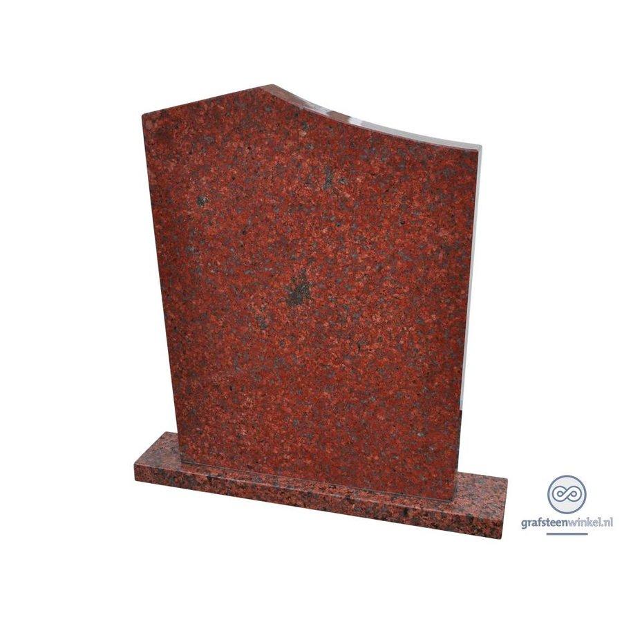 Grafsteen 'Modern', rood Graniet-1