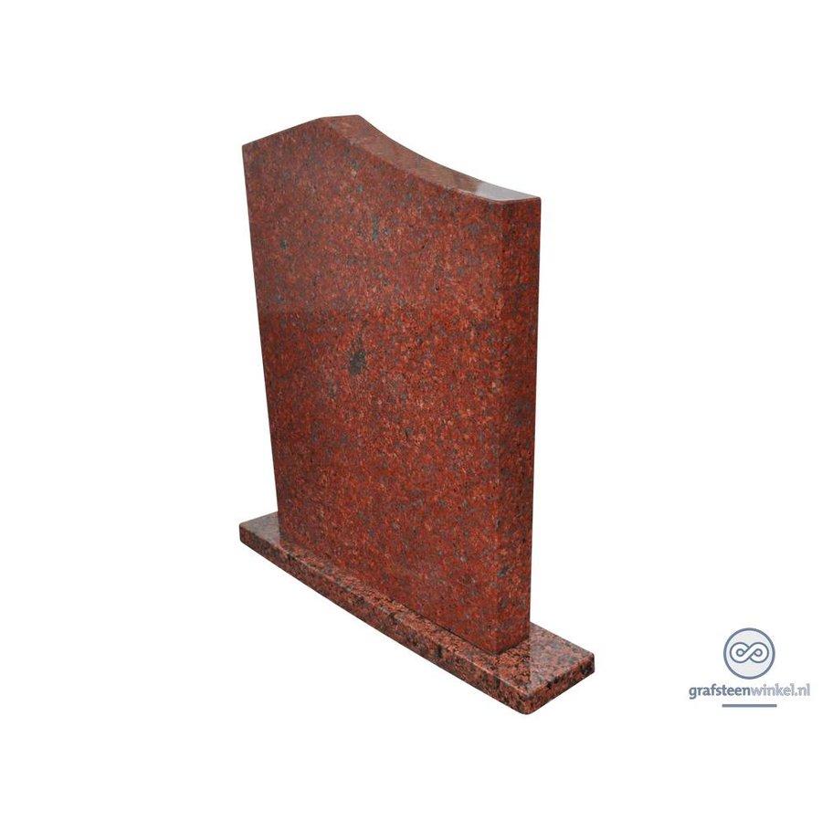 Grafsteen 'Modern', rood Graniet-2
