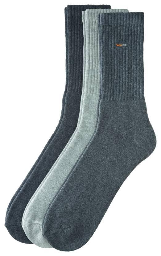 CAMANO CAMANO Classic Sport Socks 5943 10 grey 3er Pack