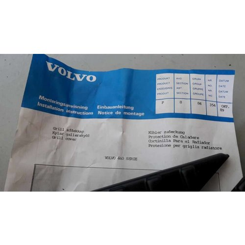 Radiatorhoes grille 3456889-9 NIEUW Volvo 460