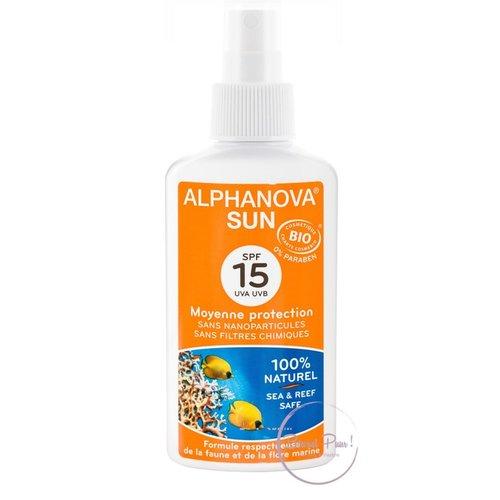 Alphanova Sun Bio Zonnebrandspray SPF15 (125g)