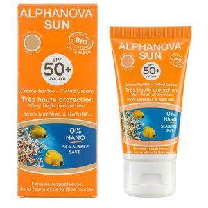 Alphanova Sun Bio Getinte Zonnebrandcreme Gezicht Medium SPF50