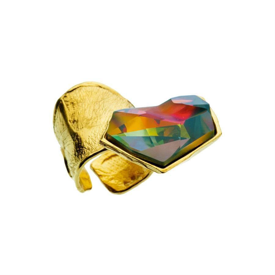 """Ring """"skin to skin"""" MG5233 met Swarovski kristal by Jean Paul Gaultier-1"""