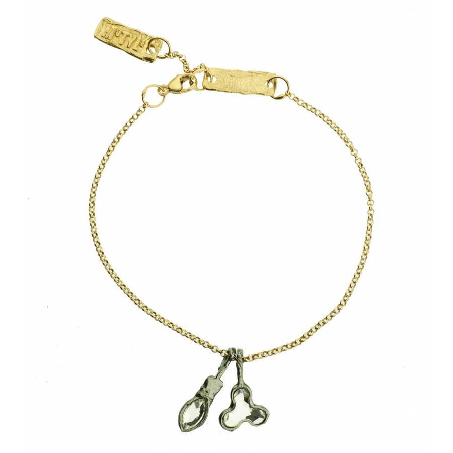 "Armband ""art deco"" M3503 Crystal-1"